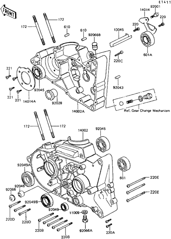 Coastal Motorcycle Centre  KE100    1987     Crankcase