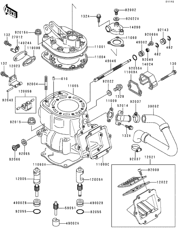 coastal motorcycle centre - kdx250 1992  cylinder 2  2