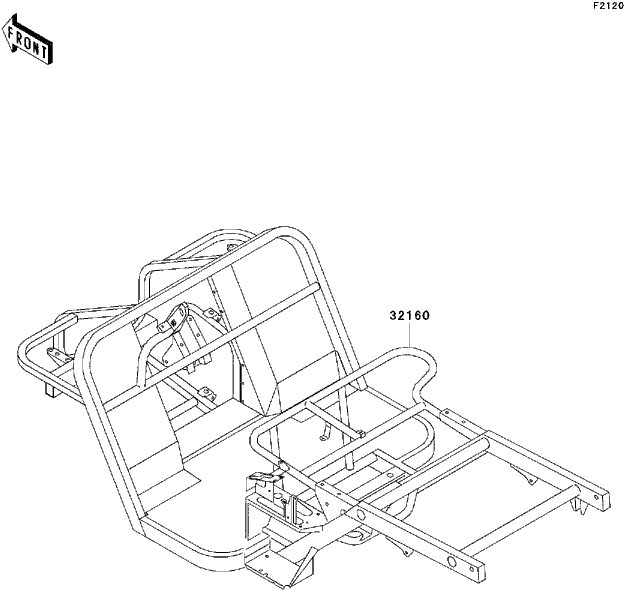kawasaki mule rear brake diagram