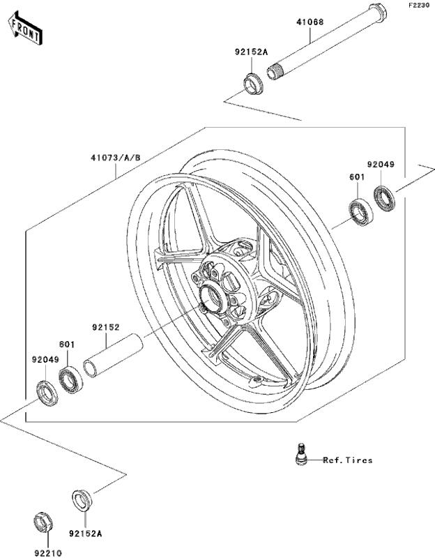 kawasaki zx10r parts